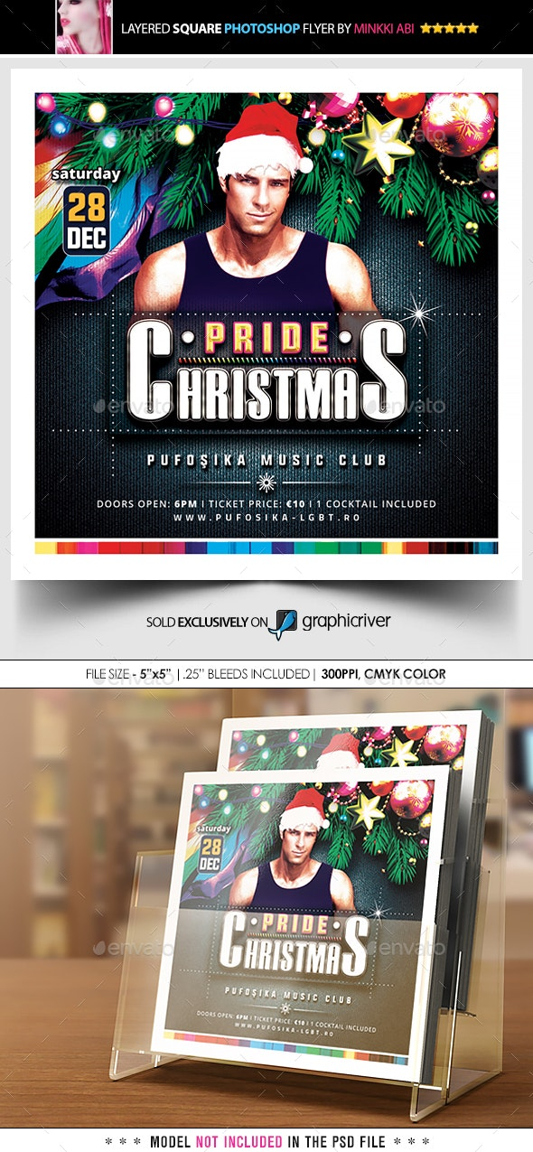 Pride Christmas Flyer - Events Flyers