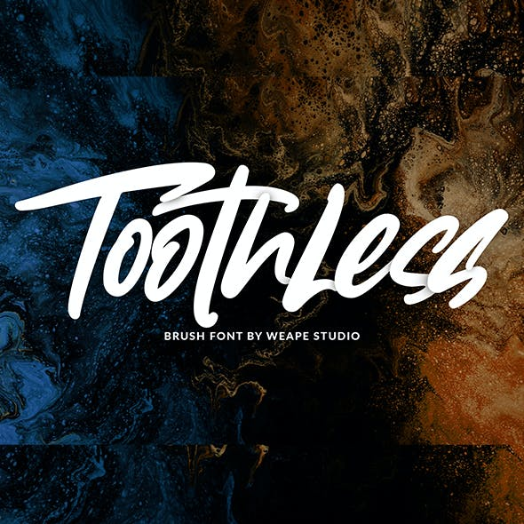 Toothless - Brush Font