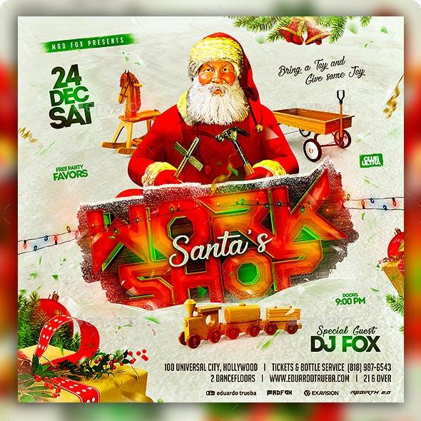 Santa's Workshop Christmas Party Flyer