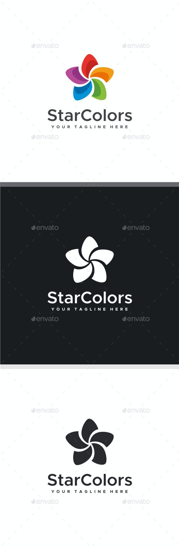 Star Colors Logo - Vector Abstract
