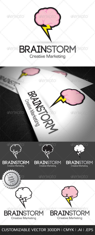 Brain Storm Creative Logo Template - Objects Logo Templates