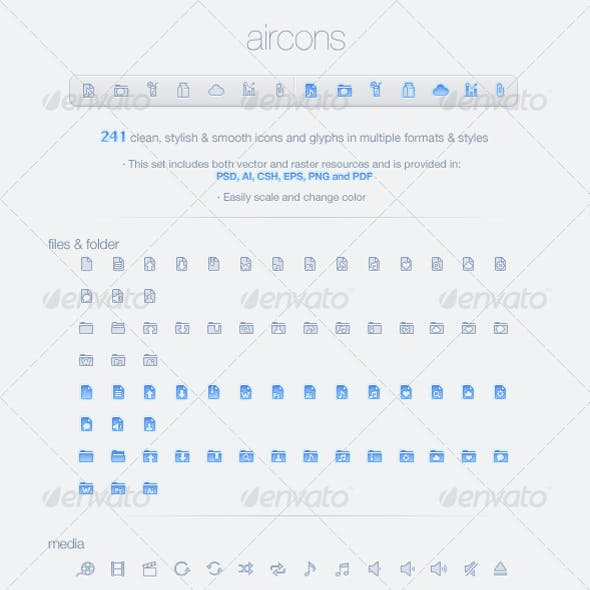 Aircons - 241 glyphs in PSD/CSH and more