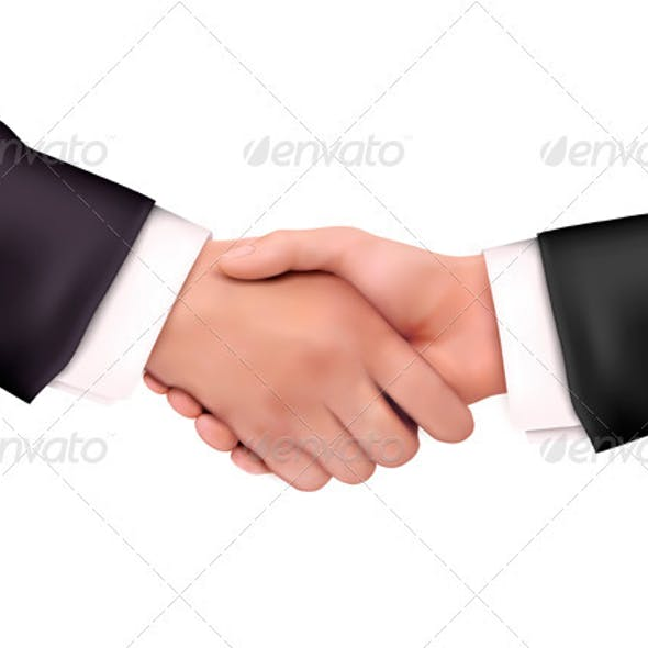 Business people handshake. Vector illustration