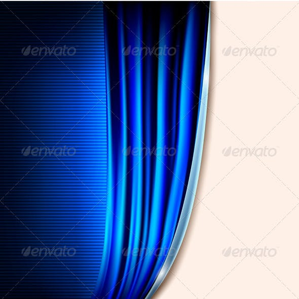 Curtain blue background vector