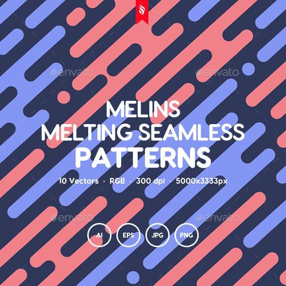 Melins - Melting Lines in Diagonal Rhythm Seamless Patterns