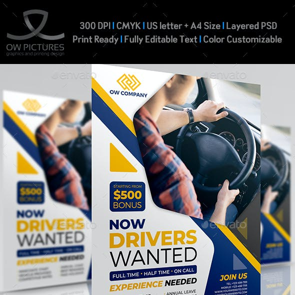 Drivers Wanted Flyer Template