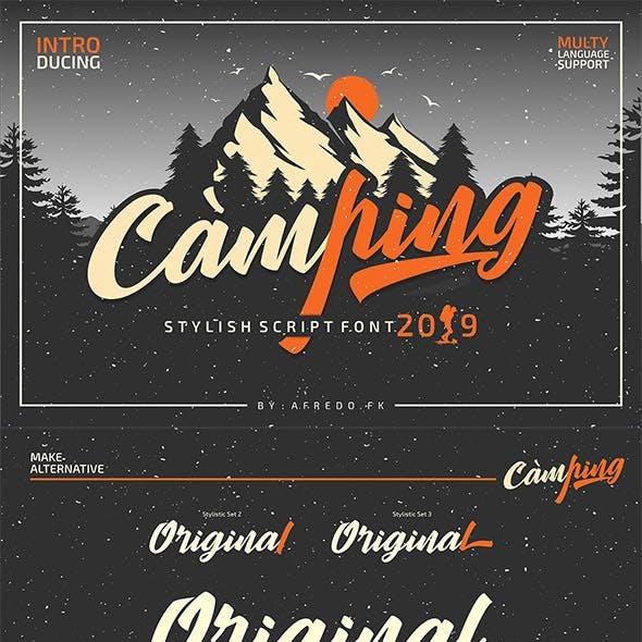 Camping Font Script