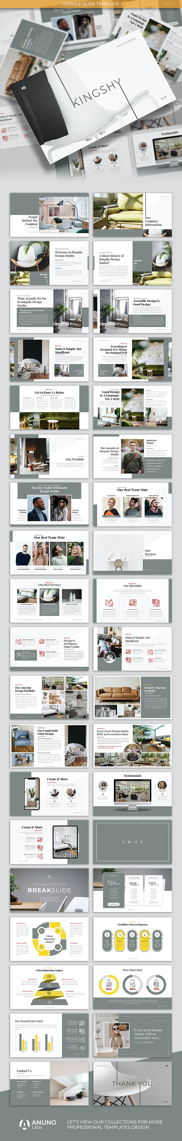Kingshy - Creative Business Google Slide Template - PowerPoint Templates Presentation Templates