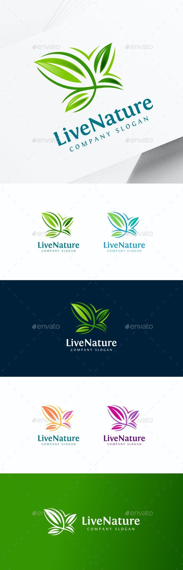 Eco Butterfly Logo - Animals Logo Templates