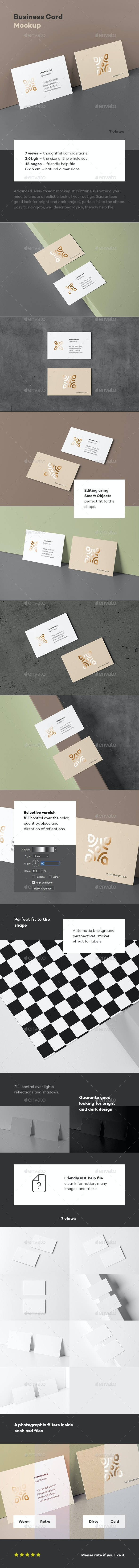 Business Card Mock-up 80x50 - Business Cards Print