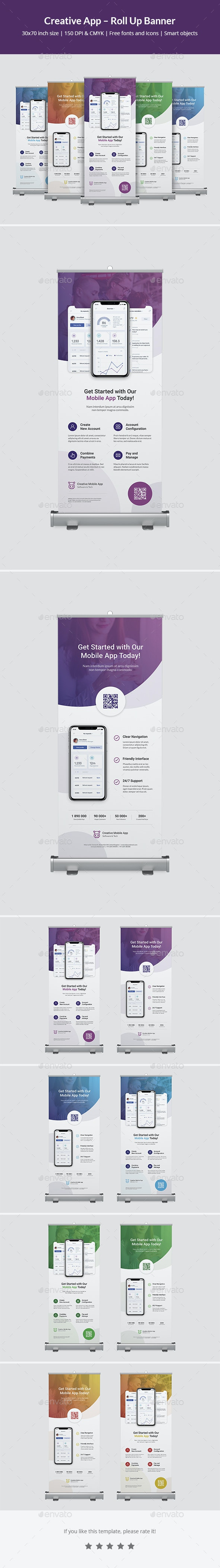 Creative App – Roll Up Banner - Signage Print Templates