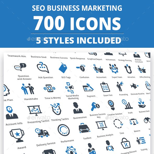 Seo Business Marketing Icons