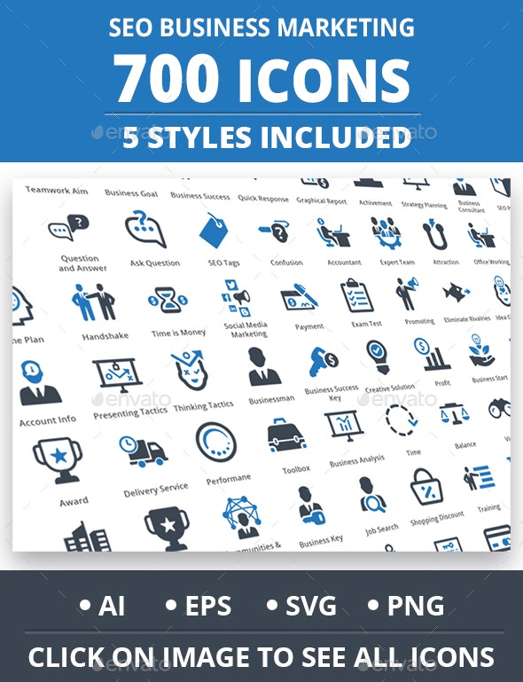 Seo Business Marketing Icons - Business Icons