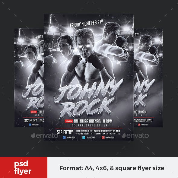 Boxing Player Flyer