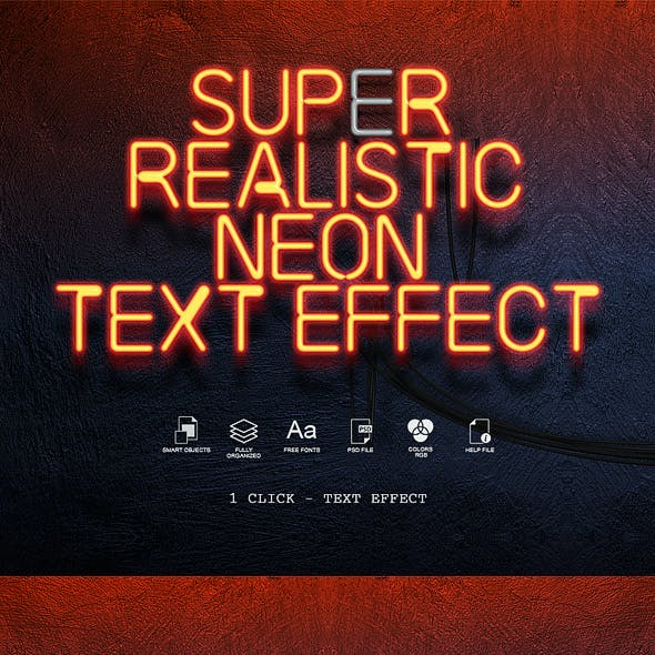 Neon Sign Text Effects Super Realistic
