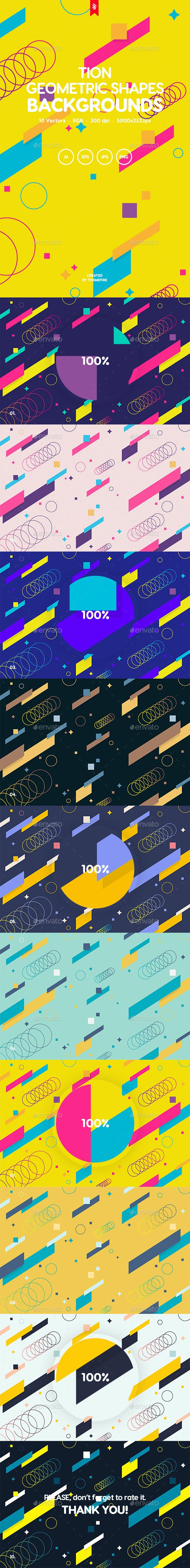 Tion - Abstract Motion Geometric Shapes Backgrounds - Abstract Backgrounds