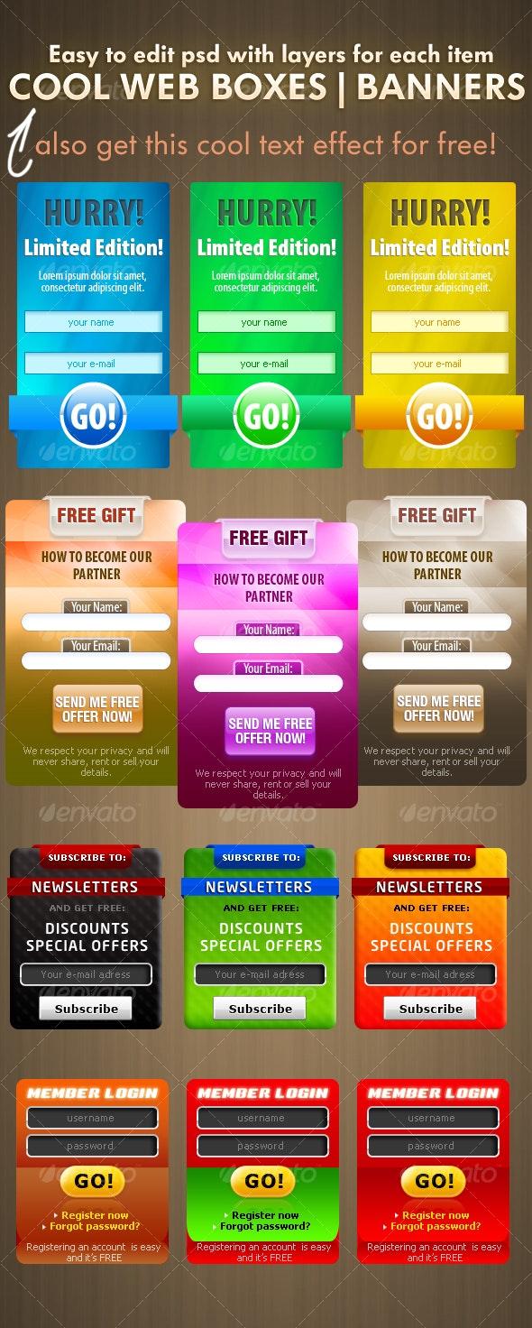 Professional Web Boxes - Web Elements