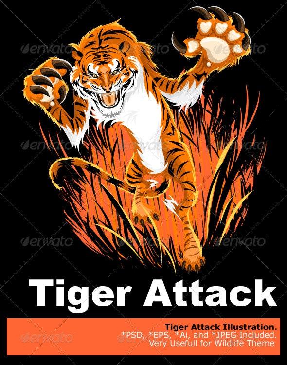 Tiger Ambush - Animals Characters