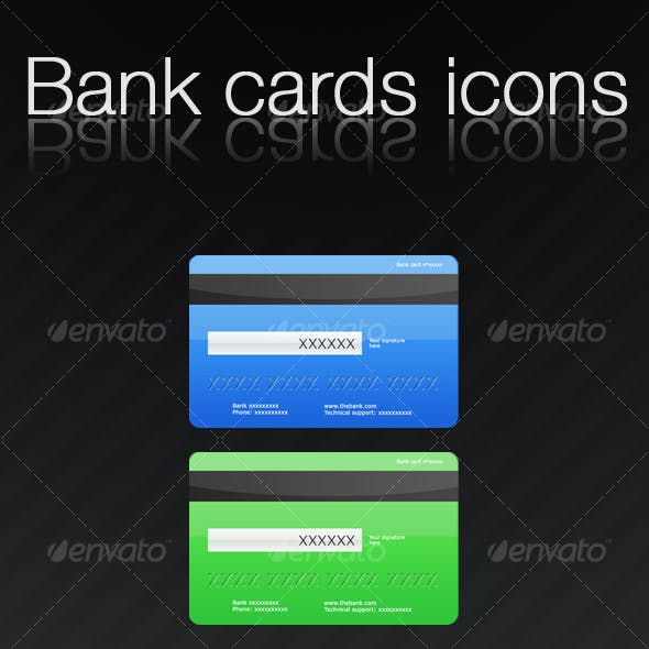 Bank cards icons
