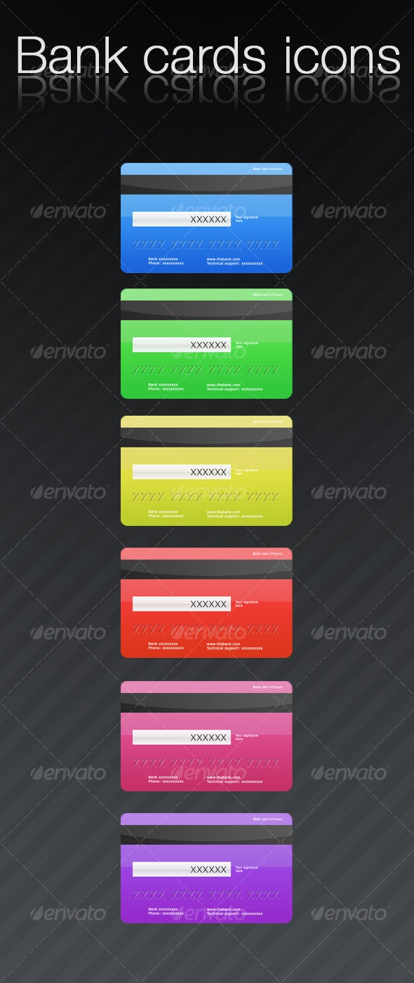 Bank cards icons - Business Icons