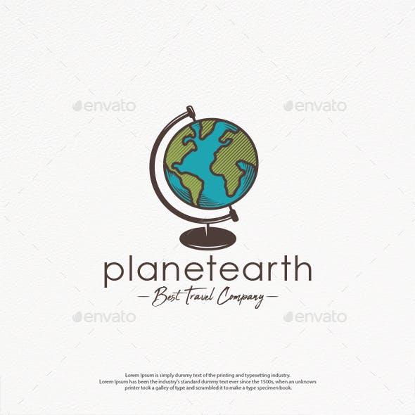 World Planet Earth Logo Template