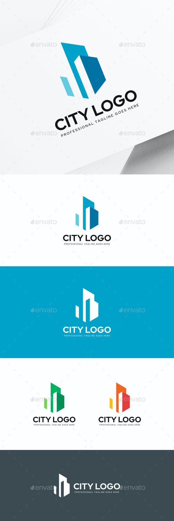 City Buildings Logo - Buildings Logo Templates