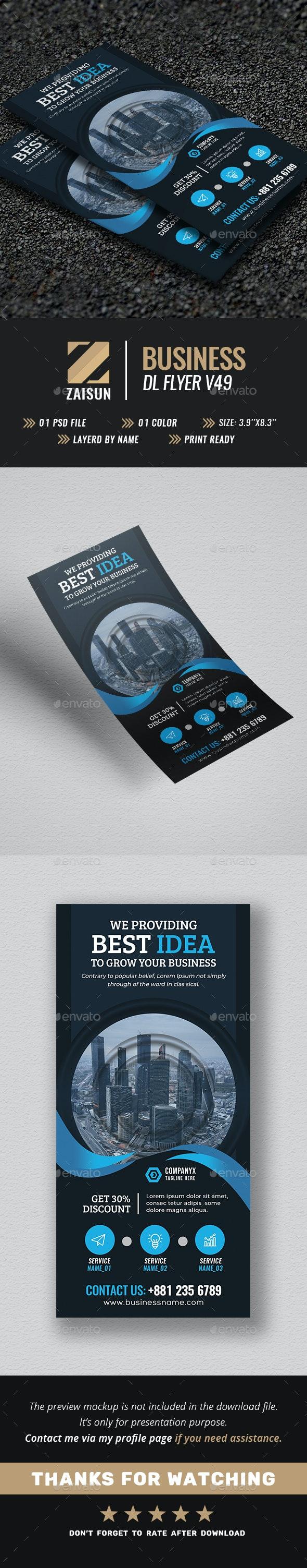 Business DL Flyer V49 - Flyers Print Templates