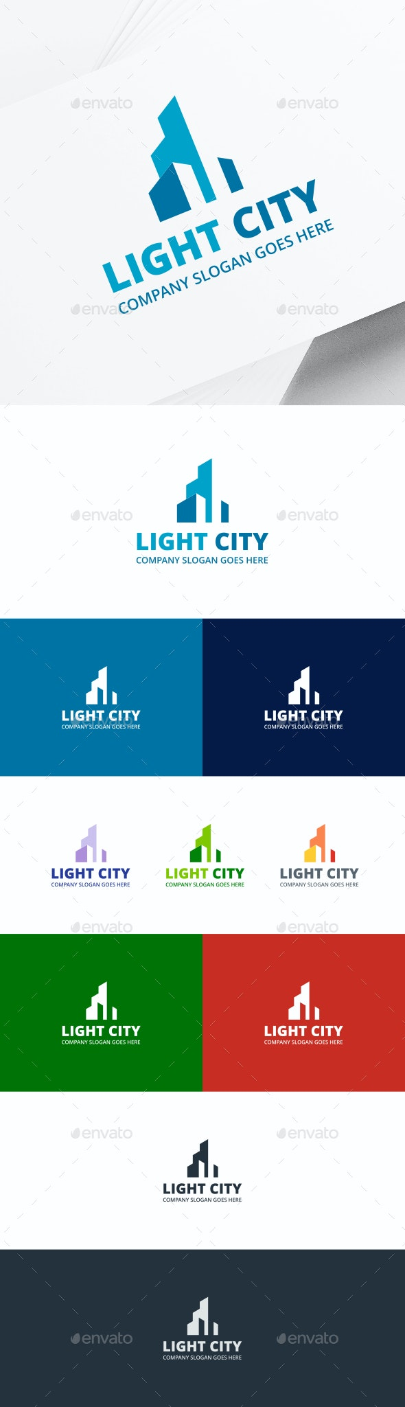 City Buildings Logo - Buildings Logo Templates