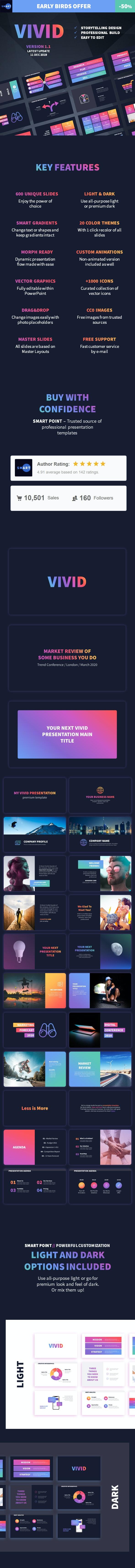 VIVID PowerPoint Presentation Template - Business PowerPoint Templates