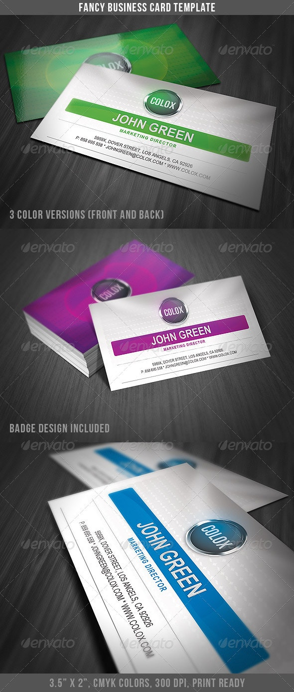 Fancy Business Card Template - Business Cards Print Templates