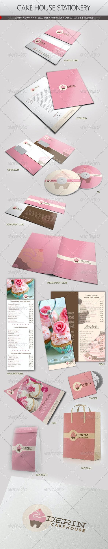 Cake House Corporate Identity - Stationery Print Templates