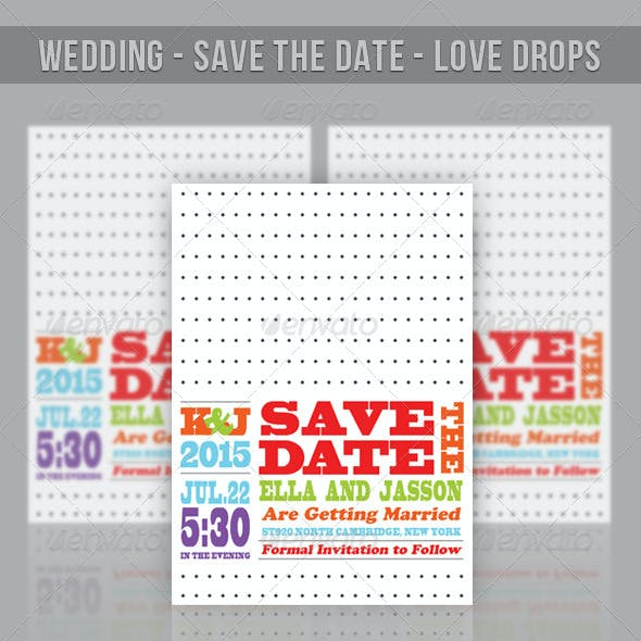 Wedding - Save The Date - Love Drops