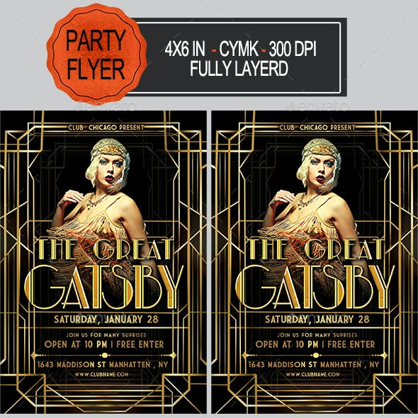 The Great Gatsby Flyer