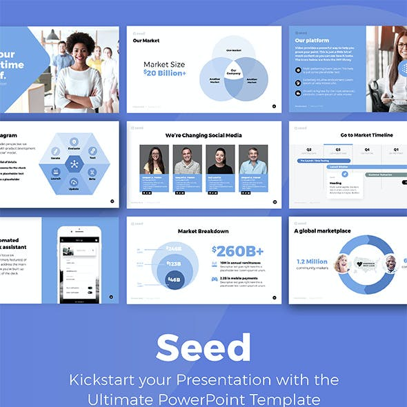 Seed - Investor Pitch Deck Presentation Template
