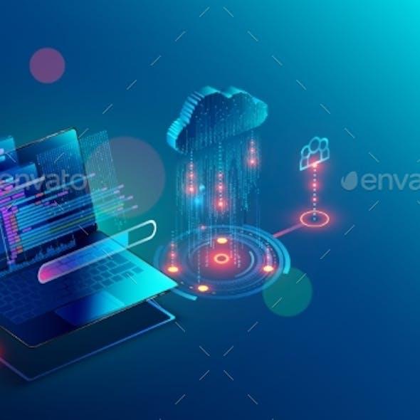 Laptop Connection on Cloud Storage