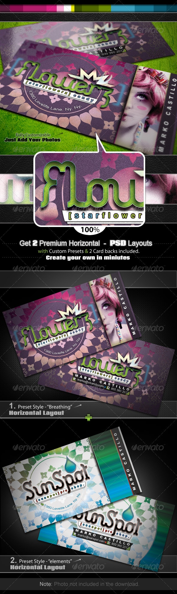 Flowerz Candy - Business Card Set - Industry Specific Business Cards