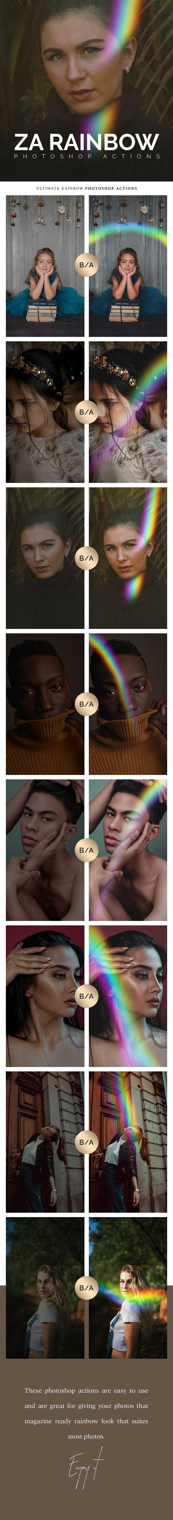 Ultimate Rainbow Photoshop Actions - Photo Effects Actions