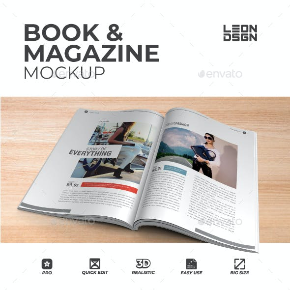 Book & Magazine Mockup
