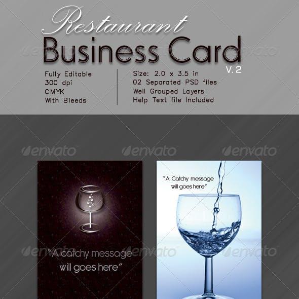 Restaurant  Business Card V.2