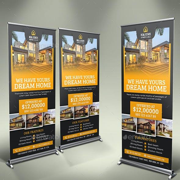 Real Estate Roll Up Banner V50