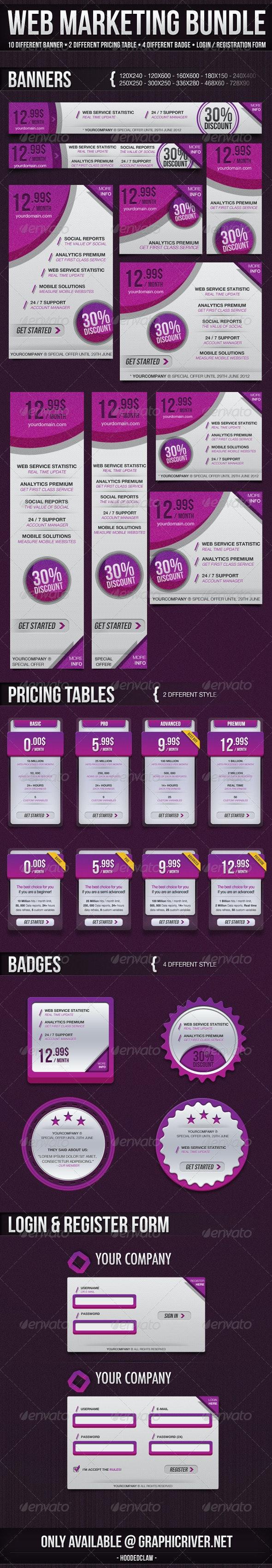 Web Marketing Bundle - Web Elements
