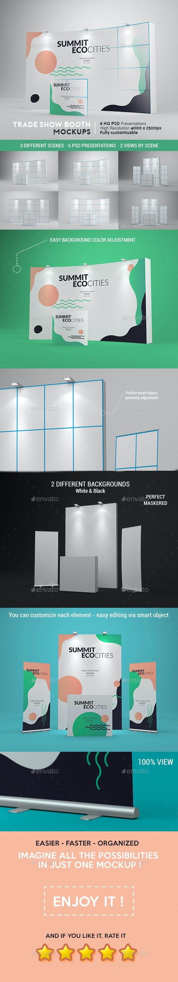 Trade Show Booth Mockups - Product Mock-Ups Graphics