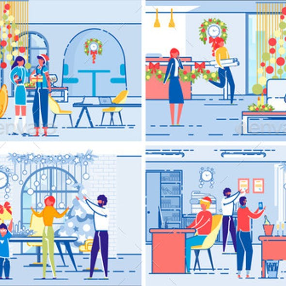 Christmas Celebrations on Workplace and at Home