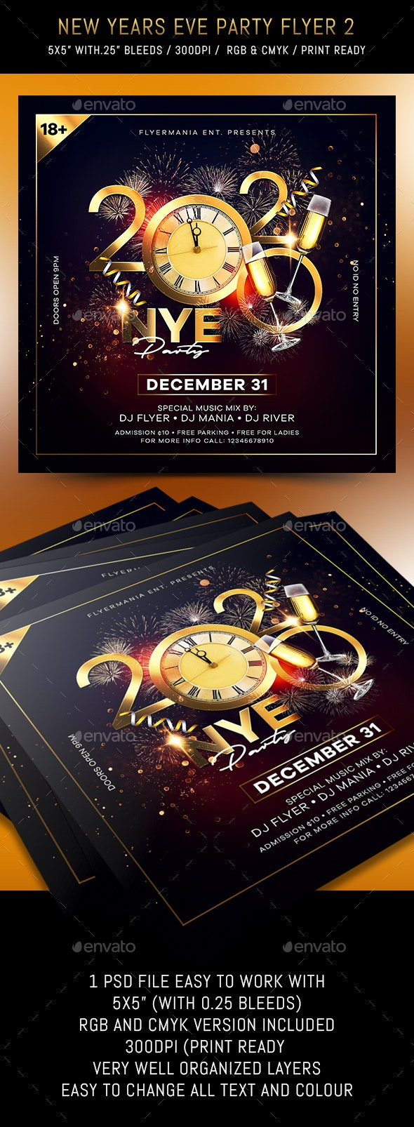 New Years Eve Party Flyer 2 - Flyers Print Templates