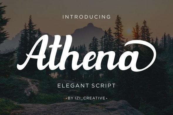 Athena - Hand-writing Script