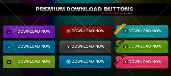 Premium Download Buttons  - Web Elements