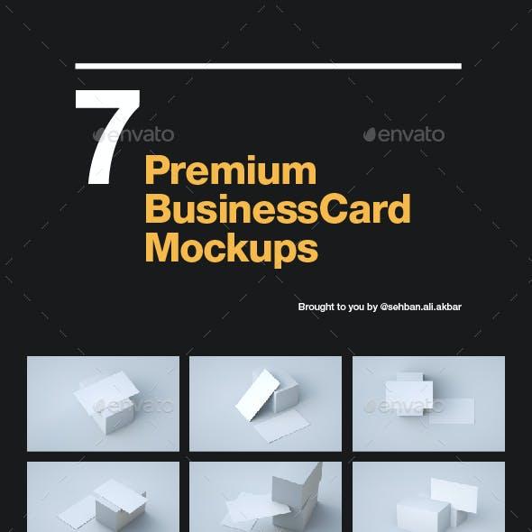 7 Premium Business Card Mockups