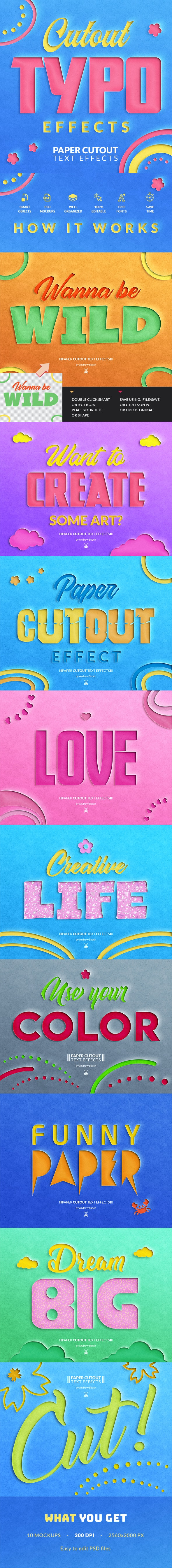 Paper Cut Out Text Effect