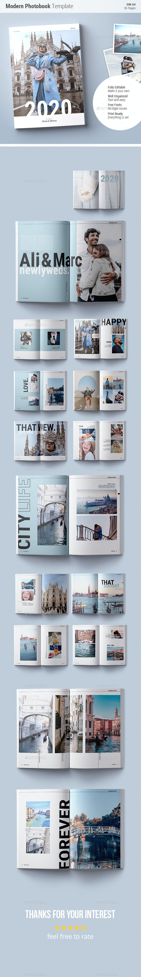 Photobook Template | Blue Skies - Photo Albums Print Templates