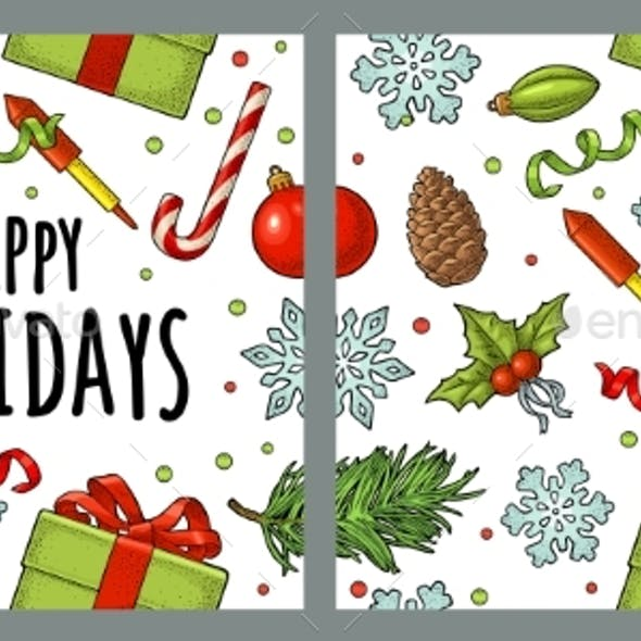 Seamless Pattern for Merry Christmas and Happy New Year